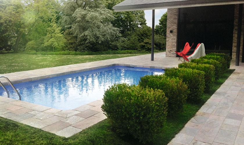 natural stone pool deck long island