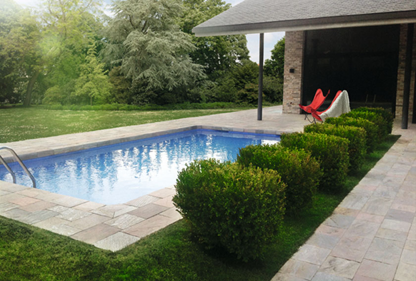 natural stone pool deck long island